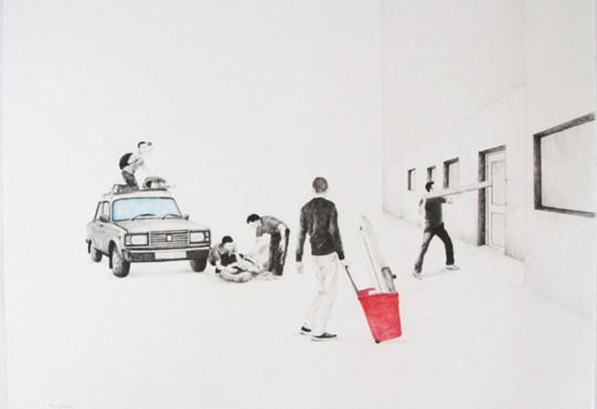 PORTRAIT// Massinissa Selmani dessine l'absurdité de la vie à partir de photos de presse