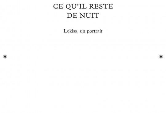 EXTRAIT // 'Ce qu'il reste de nuit' de Sophie Pujas