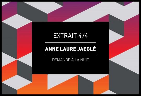EXTRAIT // 'Demande à la nuit' d'Anne Laure Jaeglé
