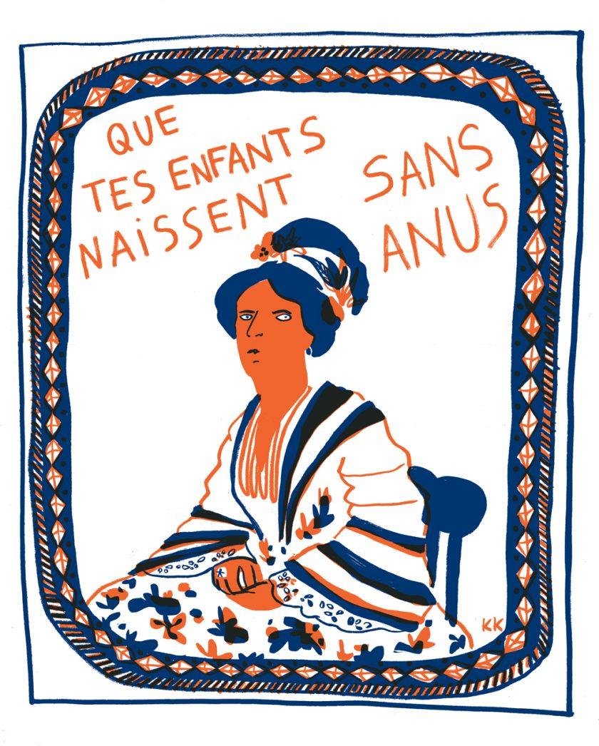 sans anus CAMILLE DE CUSSAC tafmag jaune cochon illustration