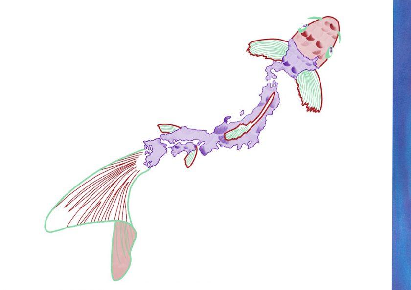 1.JapaneseKoi ellis van der does tafmag illustration dessin
