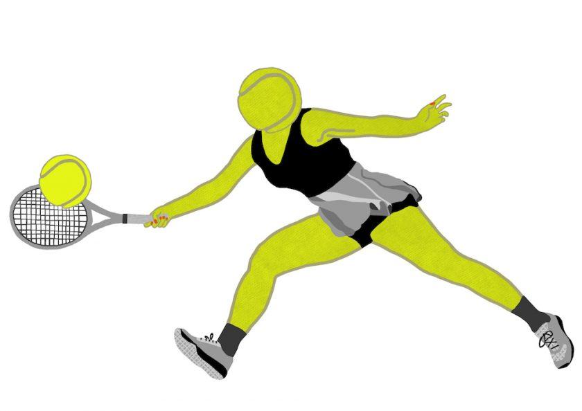 1.tennis playing tennis