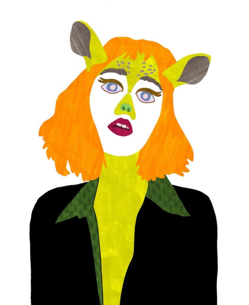 ellis van der does tafmag illustration 1.Deer