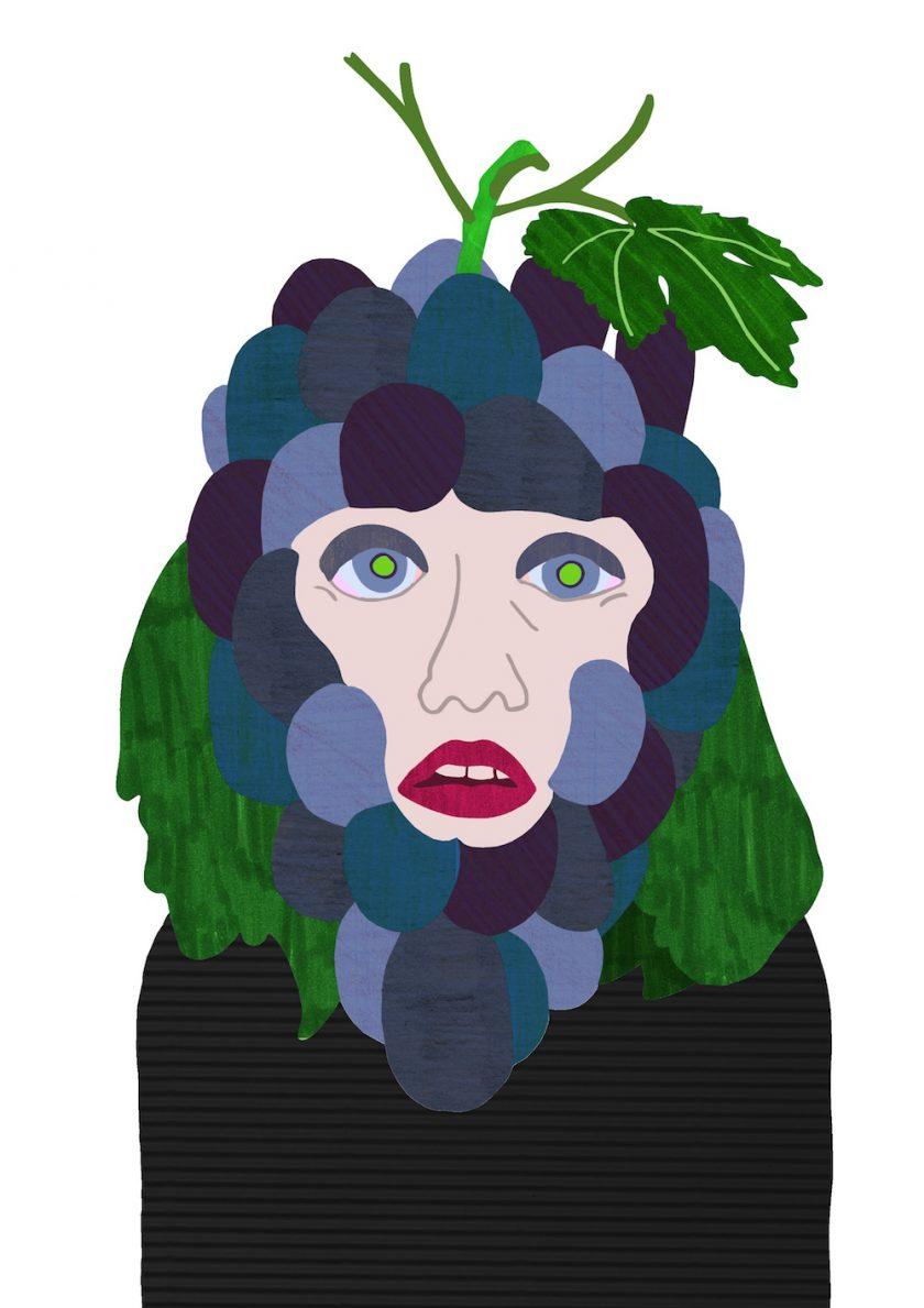 ellis van der does tafmag illustration 3.Grape