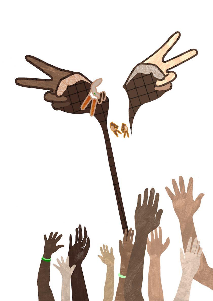 ellis van der does tafmag illustration 4. peace