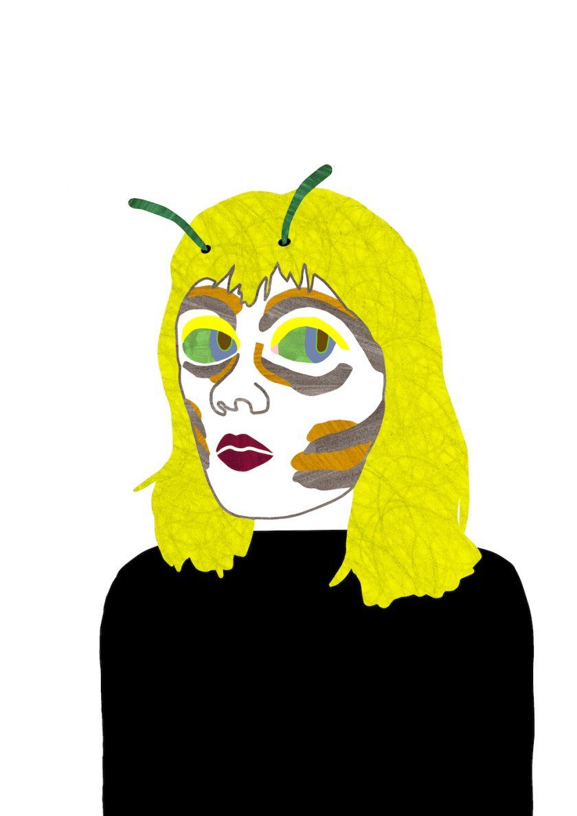 ellis van der does tafmag illustration  5.Bee