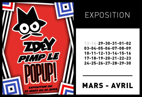 EXPOSITION ZDEY @ LE POP UP DU LABEL