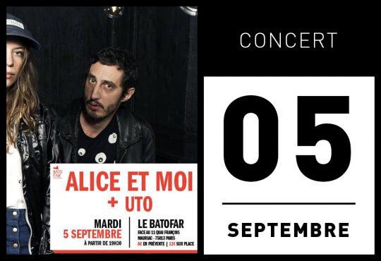 CONCERT ALICE ET MOI + UTO @ BATOFAR