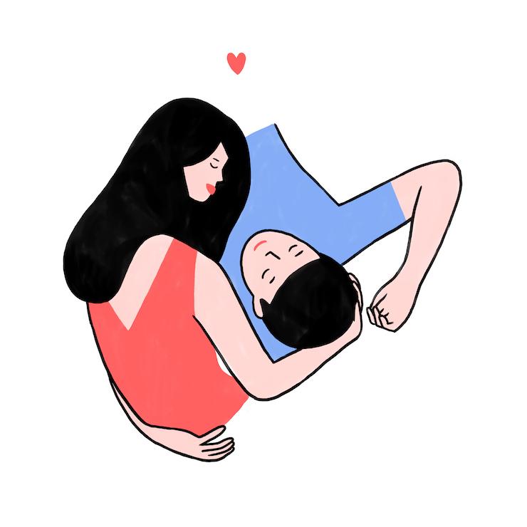 couple calin amour